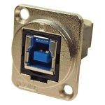 מתאם לפנל - USB 3.0 B (F) ~ USB 3.0 A (F) - CSK HOLES