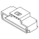 מחבר MOLEX להלחמה למעגל מודפס - סדרת PICO-CLASP - זכר 6 מגעים