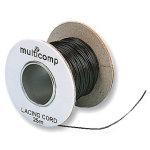 חוט קשירה שחור לכבלים - קוטר 0.9MM - גליל 25 מטר