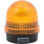 מנורת התראה כתומה קבועה - (7W , 12V ~ 240V (AC/DC