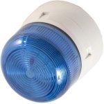 מנורת התראה כחולה מהבהבת - XENON , 3W , 12VDC / 24VDC