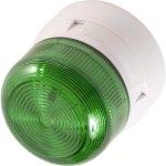 מנורת התראה ירוקה מהבהבת - XENON , 3W , 12VDC / 24VDC