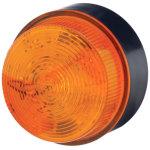 מנורת התראה כתומה מהבהבת - XENON , 10~100VDC / 20~72VAC