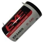סוללת ליתיום עם תגיות הלחמה - D 3.6V