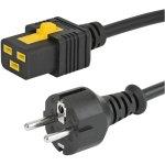 כבל חשמל יצוק עם נעילת 2M , IEC C19 ~ EU PLUG - V-LOCK