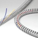מסילה גמישה להובלת כבלים - 24MM X 23MM X 0.5M