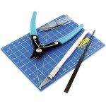 סט כלים מקצועי עם משטח חיתוך - (A6 (148X105MM