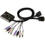 ממתג KVM לשני מחשבים - USB / DVI / AUDIO