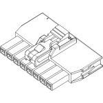 מחבר MOLEX ללחיצה לכבל - סדרת NANO-FIT - נקבה 6 מגעים