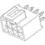 מחבר MOLEX להלחמה למעגל מודפס - סדרת NANO-FIT - זכר 8 מגעים