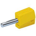 מחבר בננה CAGE CLAMP 215 - 4MM - בידוד צהוב