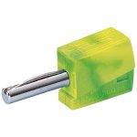 מחבר בננה CAGE CLAMP 215 - 4MM - בידוד צהוב / ירוק