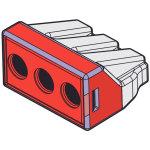 מחבר טרמינל בלוק - WALL NUT 773 - שלושה מגעים