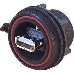מחבר תעשייתי USB - נקבה לפנל - PX0842/A