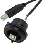 כבל תעשייתי USB - נקבה B ← זכר PX0844/B/0M50/B - B