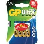 רביעיית סוללות אלקליין - AAA 1.5V - GP ULTRA PLUS ALKALINE