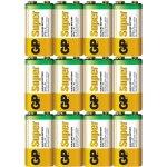 10 סוללות אלקליין - PP3 9V - GP SUPER ALKALINE