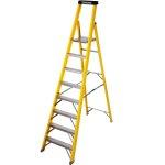 סולם פיברגלס מקצועי עם שמונה שלבים - 1.87 מטר