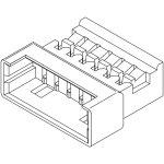 מחבר MOLEX ללחיצה לכבל - סדרת PICOBLADE - זכר 6 מגעים