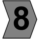 סימוניות ננעצות לכבלים - ספרה 8 - HELAGRIP - 5MM x 4.3MM