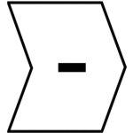סימוניות ננעצות לכבלים - סימן מינוס - HELAGRIP - 3.5MM x 3.3MM