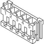 מחבר JST ללחיצה לכבל - סדרת EH - נקבה 4 מגעים