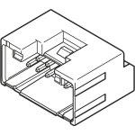מחבר JST להלחמה למעגל מודפס - סדרת PUD - זכר 12 מגעים