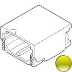 מחבר JST להלחמה למעגל מודפס - סדרת SFH - בידוד צהוב - זכר 2 מגעים