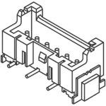 מחבר JST להלחמה למעגל מודפס - סדרת XA - זכר 6 מגעים