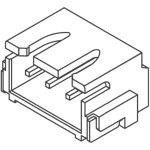 מחבר JST להלחמה למעגל מודפס - סדרת XH - זכר 4 מגעים