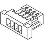 מחבר JST ללחיצה לכבל - סדרת SH - נקבה 4 מגעים