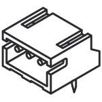מחבר JST להלחמה למעגל מודפס - סדרת ZH - זכר 4 מגעים