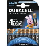 8 סוללות אלקליין - AAA 1.5V - DURACELL ULTRA ALKALINE