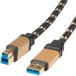 כבל ROLINE GOLD - 3M - B(M) ~ A(M) - USB 3.0