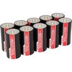 10 סוללות אלקליין תעשיות - ANSMANN - C 1.5V