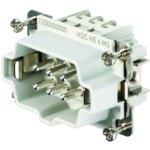 מחבר HD - זכר להברגה לכבל - 6 מגעים - HDC HE 6 MS