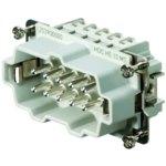 מחבר HD - זכר להברגה לכבל - 10 מגעים - HDC HE 10 MS