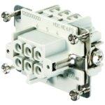 מחבר HD - נקבה להברגה לכבל - 6 מגעים - HDC HE 6 FS
