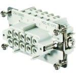 מחבר HD - נקבה להברגה לכבל - 10 מגעים - HDC HE 10 FS