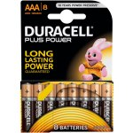 8 סוללות אלקליין - AAA 1.5V - DURACELL PLUS POWER ALKALINE