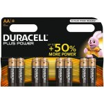 8 סוללות אלקליין - AA 1.5V - DURACELL PLUS POWER ALKALINE