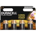 4 סוללות אלקליין - C 1.5V - DURACELL PLUS POWER ALKALINE