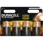 4 סוללות אלקליין - D 1.5V - DURACELL PLUS POWER ALKALINE