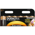 6 סוללות אלקליין - D 1.5V - DURACELL PLUS POWER ALKALINE