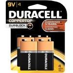 4 סוללות אלקליין - PP3 9V - DURACELL PLUS POWER ALKALINE