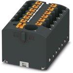 מחבר טרמינל בלוק - PTFIX 6/12X2,5 BK - 13 POLE , 24A , 500V