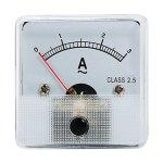 מד זרם (אמפרמטר) אנלוגי - 45MM X 45MM , 0-3A