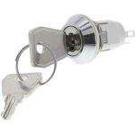מפסק מנעול ומפתח - WRL-5-F-D-2 - SP3T - 3POS - OFF/ON/ON - 3K/P
