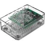 קופסת זיווד - RASPBERRY PI 4 PREMIUM POWER CASE - CLEAR