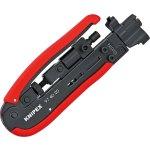 לוחץ דחיסה מקצועי לכבלים קואקסיאליים - KNIPEX 97 40 20 SB